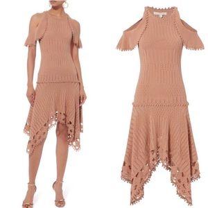 JONATHAN SIMKHAI Crochet Handkerchief Hem Dress xs